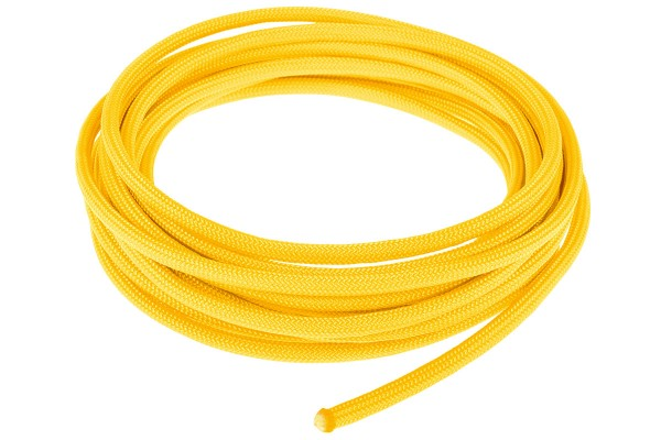 Alphacool AlphaCord Sleeve 4mm - 3,3m (10ft) - Canary Yellow (Paracord 550 Typ 3) 330cm