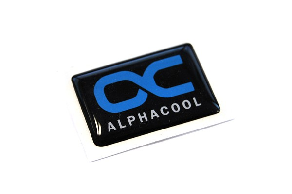 Alphacool Sticker 30x20mm - Soft Black