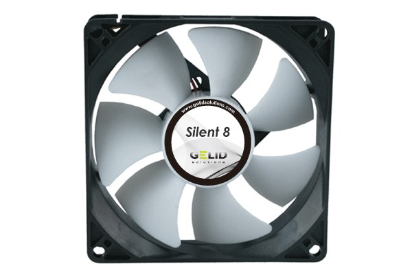 GELID Solutions Low Noise fan-1600 RPM 18 dBA ( 80x80x25mm )