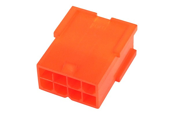 mod/smart VGA Power Connector 8Pin Buchse - UV Brite Orange