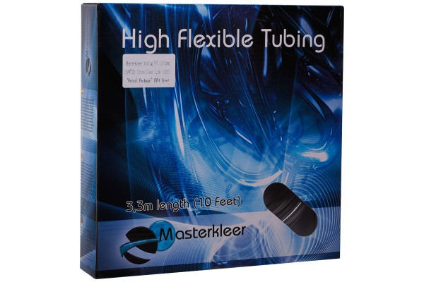 """Masterkleer Schlauch PVC 13/10mm (3/8""""ID) Ultra Clear 3,3m (10ft) """"Retail Package"""" (BPA free)"""