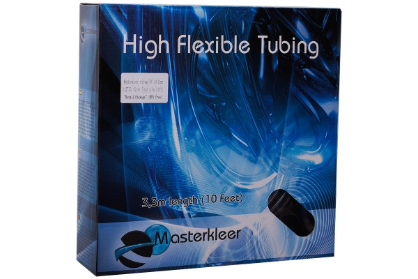 """Masterkleer Schlauch PVC 19/13mm (1/2""""ID) Ultra Clear 3,3m (10ft) """"Retail Package"""" (BPA free)"""