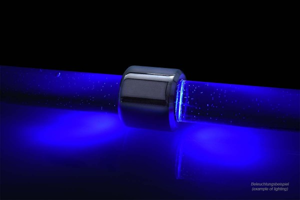 Alphacool Aurora HardTube LED Ring 13mm Chrome - Blau