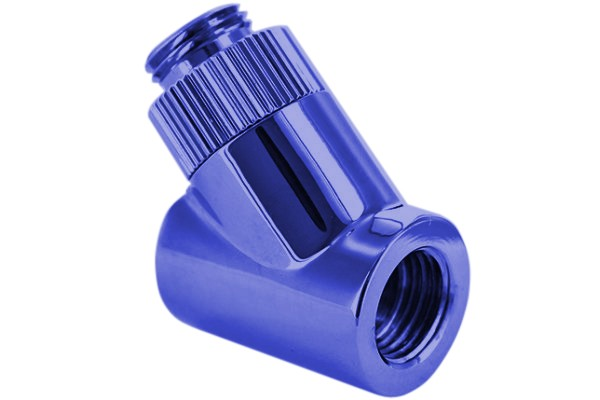 "Monsoon 19/13mm (OD 3/4"") Light Port Rotary 45° - Blue"